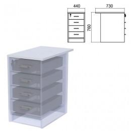 Крышка для тумбы приставной (АТ-07) Арго, 440х730х22 мм, серый