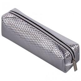 Пенал-косметичка BRAUBERG, глянцевый, мягкий, Celebrity Silver, 21х5х6 см, 228993