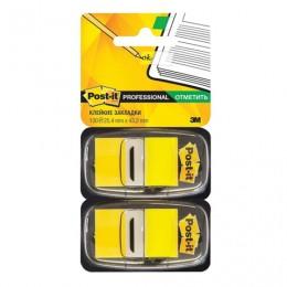 Закладки клейкие POST-IT Professional, пластиковые, 25 мм, 100 шт., желтые, 680-YW2