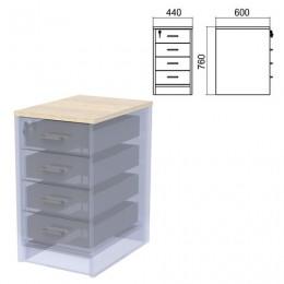 Крышка для тумбы приставной (АТ-07) Арго, 440х600х22 мм, ясень шимо