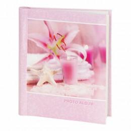 Фотоальбом BRAUBERG на 10 магнитных листов, 23х28 см, На память, розовый, 390682
