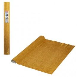 Бумага гофрированная (ИТАЛИЯ) 140г/м, античное золото (917), 50х250см, BRAUBERG FLORE, 112603