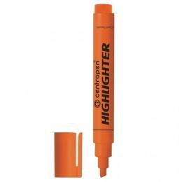 Текстмаркер CENTROPEN, скошенный наконечник 1-4,6 мм, неоновый оранжевый, 8852/1О