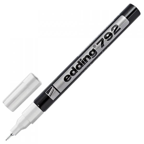 Маркер-краска лаковый EDDING 792, 0,8 мм, БЕЛЫЙ, металлический наконечник, пластиковый корпус, E-792/49