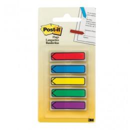 Закладки клейкие POST-IT Professional, пластиковые, 12 мм, 5 цветов х 20 шт., стрелки, 684-ARR1
