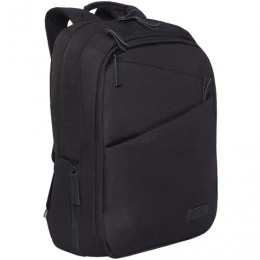 Рюкзак GRIZZLY универсальный, карман для ноутбука, USB-порт, черный, 46x32х14 см, RQ-016-1/2