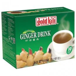 Имбирный напиток с медом быстрорастворимый Ginger Drink, 10 саше по 18 г, GOLD KILI, 1901
