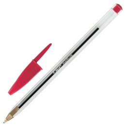 Ручка шариковая BIC Cristal, КРАСНАЯ, корпус прозрачный, узел 1 мм, линия письма 0,4 мм, 847899