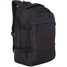 Рюкзак GRIZZLY универсальный, карман для ноутбука, черный, 45x32х21 см, RQ-019-11/2