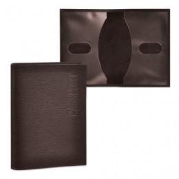 Обложка для паспорта BEFLER Грейд, натуральная кожа, тиснение Passport, коричневая, O.1.-9