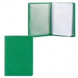 Бумажник водителя FABULA Every day, натуральная кожа, тиснение, 6 пластиковых карманов, зеленый, BV.53.FP