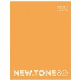 Тетрадь на кольцах А5 (170х220мм), 80л, картонная обложка, клетка, HATBER Premium, Оранжевый,80ТК5A1, 80ТК5A1_00935