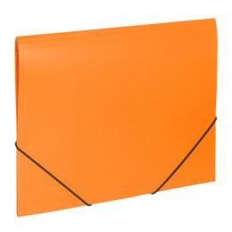 Папка на резинках BRAUBERG Office, оранжевая, до 300 листов, 500 мкм, 228084