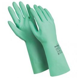 Перчатки латексные MANIPULA Контакт, хлопчатобумажное напыление, размер 10-10,5 (XL), зеленые, L-F-02