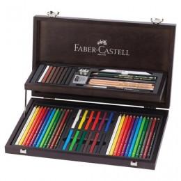 Набор художественный FABER-CASTELL Art & Graphic Compendium, 54 предмета, деревянный ящик, 110088