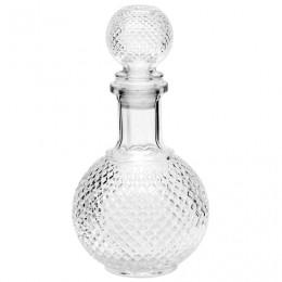 Графин-штоф 1 л, стеклянный, декоративная крышка-заглушка, Baron, CN02004