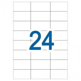Этикетка самоклеящаяся УДАЛЯЕМАЯ, 70х37мм, 24 этикетки, белые, 65 г/м2, 50 л., STAFF, 128832
