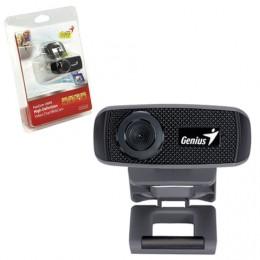 Веб-камера GENIUS Facecam 1000X V2, 1 Мп, микрофон, USB 2.0, регулируемое крепление, черный, 32200223101