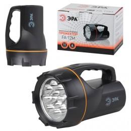 Фонарь-прожектор светодиодный ЭРА FA12M, 12 x LED, аккумуляторный, заряд от 220 V