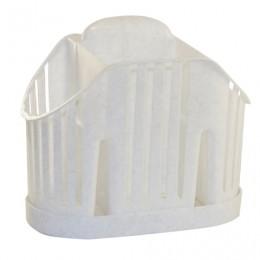 Сушилка для столовых приборов, 3 секции, вертикальная, 19х11х16 см, цвет мраморный/белый, IDEA, М 1160