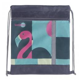 Сумка для обуви, карман на молнии, сетка для вентиляции, светоотражающая, Фламинго, 46х36 см, СДС-711