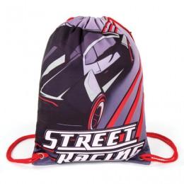 Сумка для обуви BRAUBERG PREMIUM, карман, подкладка, светоотражающие элементы, 43х33 см, Street racing, 270284