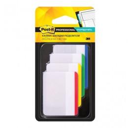 Закладки клейкие POST-IT Professional, пластик, 50 мм, 4 цвета х 6 шт., суперклейкие, 686-F1-RU
