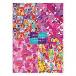 Блокнот в твердом переплете, А4 160л., блок 5 цветов, клетка, HATBER, Graphic Arts, 160ББ4В1_22025