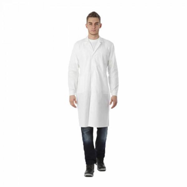 Халат рабочий мужской белый, бязь, размер 48-50, рост 170-176, плотность ткани 142 г/м2, 610718