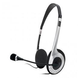 Наушники с микрофоном (гарнитура) SVEN AP-010MV, проводные, 2 м, с оголовьем, черные, SV-0410010MV