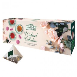 Чай AHMAD (Ахмад) Weekend Collection, 3 вкуса, в пирамидках, набор 60 пирамидок по 1,8 г, N069