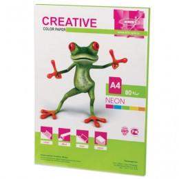 Бумага CREATIVE color (Креатив) А4, 80 г/м2, 50 л., неон, салатовая, БНpr-50с