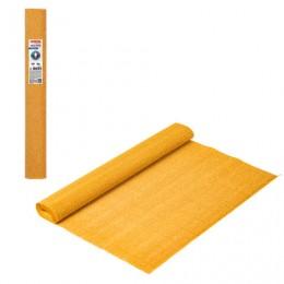 Бумага гофрированная (ИТАЛИЯ) 140г/м, светло-оранжевая (976), 50х250см, BRAUBERG FLORE, 112565