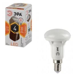 Лампа светодиодная ЭРА, 4 (30) Вт, цоколь E14, рефлектор, теплый белый свет, 25000 ч., LED smdR39-4w-827-E14ECO