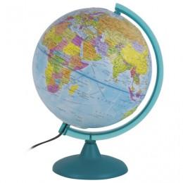 Глобус политический/физический диаметр 250 мм, рельефный, с подсветкой, 10547, 105447
