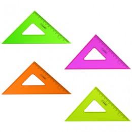 Треугольник пластиковый 45х12 см, СТАММ Neon Crystal, тонированный, прозрачный, неоновый, ассорти, ТК44