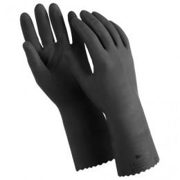 Перчатки латексные MANIPULA КЩС-1, двухслойные, размер 10 (XL), черные, L-U-03