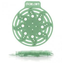 Коврики-вставки для писсуара, ЭКОС (POWER-SCREEN), на 30 дней каждый, комплект 2 шт., аромат Сосна, цвет зеленый, PWR-9G