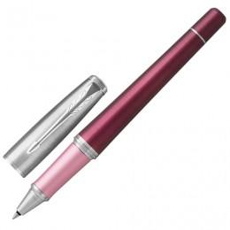 Ручка-роллер PARKER Urban Premium Dark Purple CT, корпус темно-пурпурный, хромированные детали, черная, 1931570