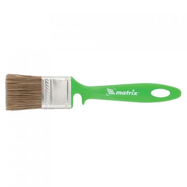 Кисть плоская 35 мм, смешанная щетина, пластиковая ручка, для работ по дереву, MATRIX, 83372