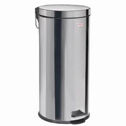 Ведро-контейнер для мусора (урна) с педалью ЛАЙМА Classic, 30 л, зеркальное, нержавеющая сталь, со съемным внутренним ведром, 232263