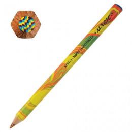 Карандаш с многоцветным грифелем KOH-I-NOOR, 1 шт., Magic Original, 5,6 мм, заточенный, 3405000031TD