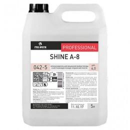 Средство для мытья посуды в посудомоечных машинах 5 л, PRO-BRITE SHINE А-8, ополаскиватель, концентрат, 042-5