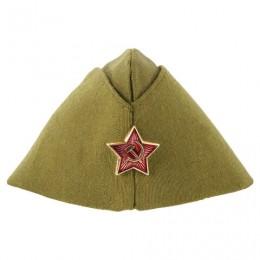 Пилотка Военная однослойная, металлическая красная звезда, размер универсальный, 51-56, ПЛ-02