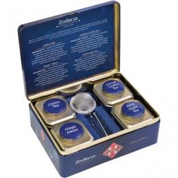 Чай HILLTOP Зодиак, коллекция листового чая и заварная ложка-ситечко в шкатулке, 200 г, F507