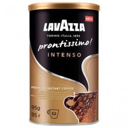 Кофе молотый в растворимом LAVAZZA Prontissimo Intenso, сублимированный, 95 г, жестяная банка, 5331