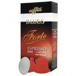Капсулы для кофемашин NESPRESSO, Forte, натуральный кофе, BLUES, 10 шт. х 5 г, 4600696301007