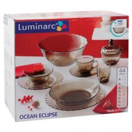 Набор посуды столовый, 44 предметов, дымчатое стекло, Ocean Eclipse, LUMINARC, L5110