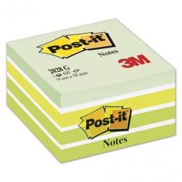 Блок самоклеящийся (стикер) POST-IT ORIGINAL Зеленая Пастель 76х76 мм, 450 л., ассорти, 2028-G