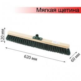 Щетка для уборки техническая, ширина 60 см, мягкая щетина 8 см, дерево, еврорезьба, ЛАЙМА EXPERT, 605374